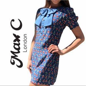 Max C London- Puffed Sleeve Shift Dress